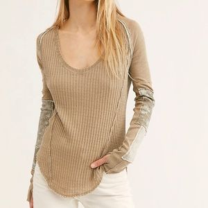 Free People Patched Thermal Top